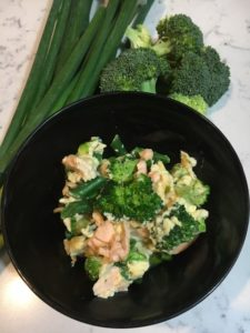 high protein breakfast, fertility foods, recipe to stabilise sugars